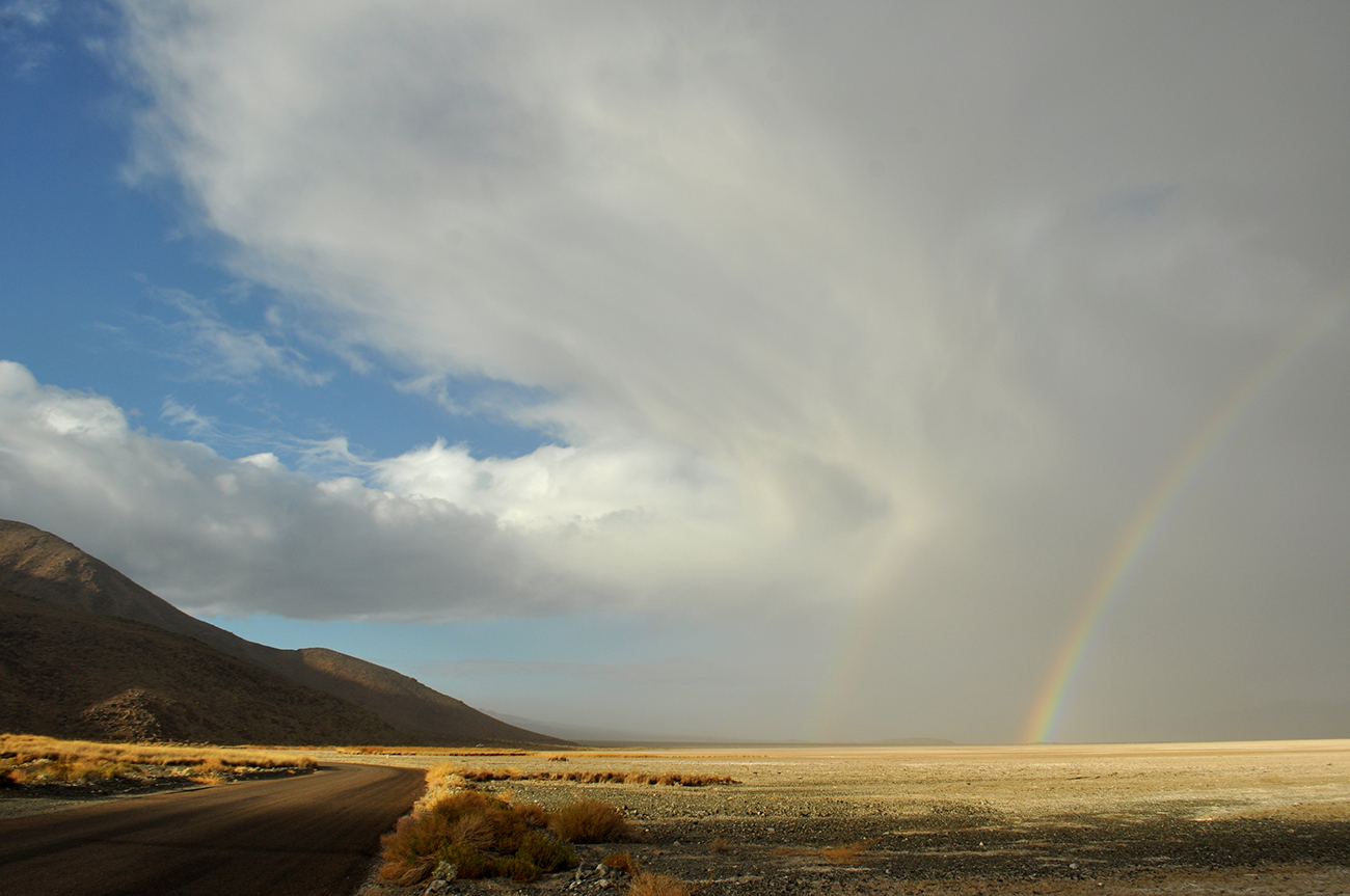 photo - Zzyzx / Soda Lake, rainbow