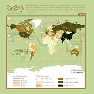 Map of wheat exports